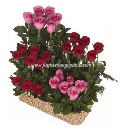 Bouquet of roses in groups