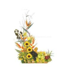 Arrangement with tropical fruits