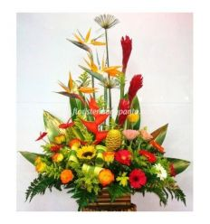 Tropical Bouquet with gerberas