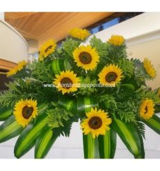 Funeral Bouquet sunflowers