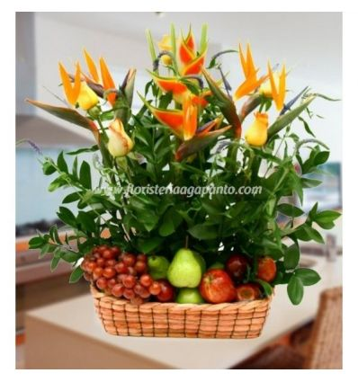 Fruit basket and Heliconias
