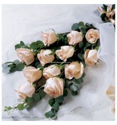 White Roses Bouquet in