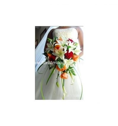 Bridal bouquet with lilies