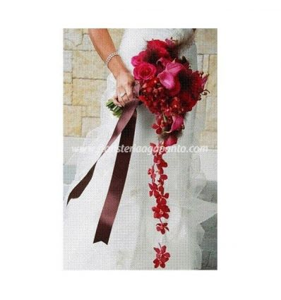 Bouquet of red bride