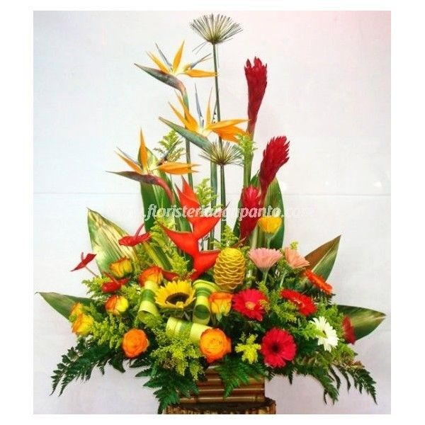 Tropical Bouquet with gerberas - Floristería Agapanto Barranquilla
